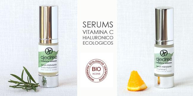 serums de vitamina c y acido hialuronico ecologicos
