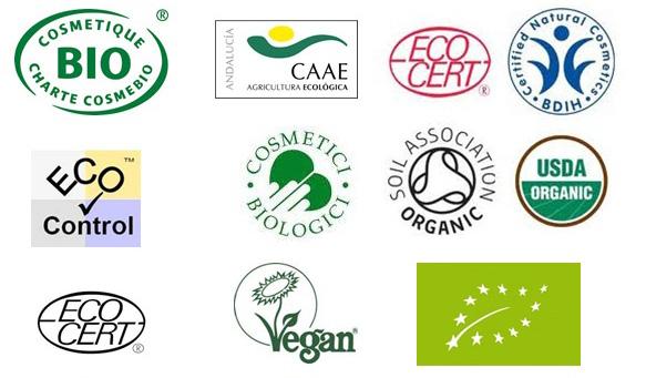 sellos de certificadoras de cosmetica ecologica