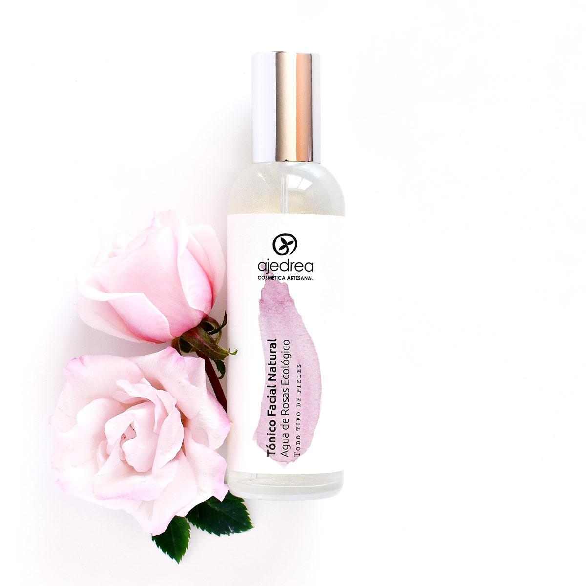 tonico facial de agua de rosas ecologico